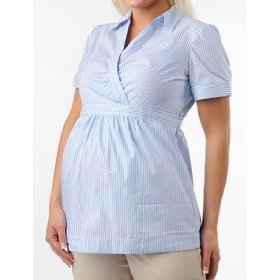 Motherhood maternity: short sleeve faux wrap maternity shirt
