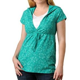 Motherhood maternity: short sleeve mock layer double opening nursing top