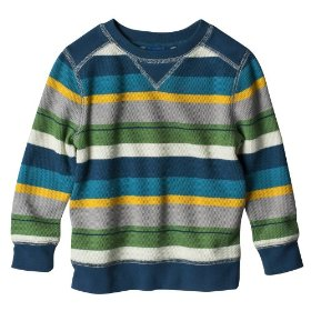 Infant toddler boys' genuine kids from oshkosh multicolor stripe long-sleeve top