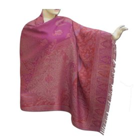 Handmade self design mix wool shawl from india, comfortable & party wear shawl for her  shwl0127r