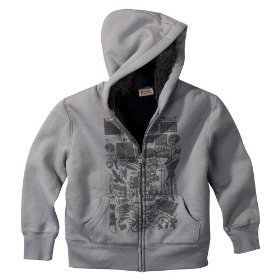 Boys' mossimo supply co. gray faux fur hoodie sweatshirt