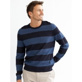 Banana republic rugby-stripe crewneck sweater