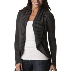 Mossimo® women's rib open cardigan sweater - grey