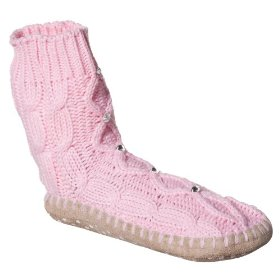 Girls' xhilaration® pink slipper socks