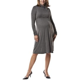 Liz lange® for target® maternity long-sleeve knotted-turtle-neck dress - gray