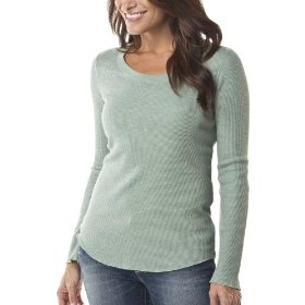 Merona® women's thermal top - green heather
