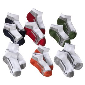 Boys' cherokee® multicolor 6 pair low-cut socks