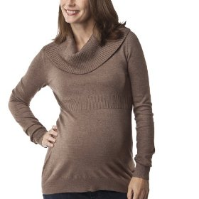 Liz lange® for target® maternity long-sleeve cowl-neck sweater - brown