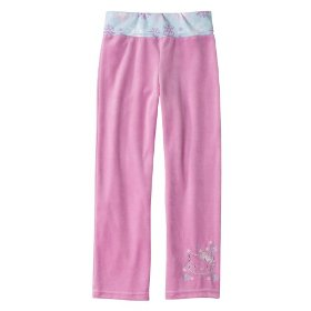 Girls' hello kitty pink velour lounge pants