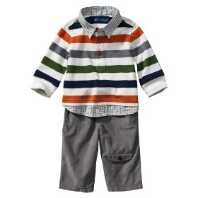 Newborn boys' dwellstudio® for target® multicolor 2 pc tee and pant set