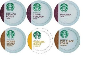 18 Count - Variety Pack of Starbucks K-Cups for Keurig Brewers