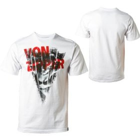 Von zipper photocopy t-shirt - short-sleeve - men's