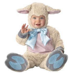 In character baby lamb sheep plush infant animal halloween costume