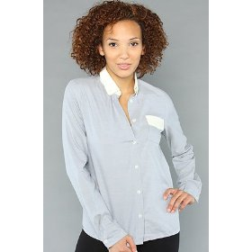 Lifetime collective the white collar l/s button up,tops (l/s) for women