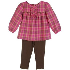 Carter's 2pc plaid top & pants play all day set
