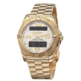 Breitling k7936211-g605-130k professional silver tone dial 18k yellow gold men's digital display