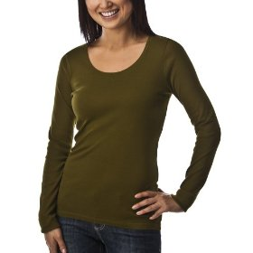 Merona® women's ultimate long sleeve tee - scallion green