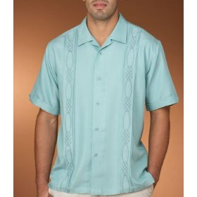 Cubavera embroidered shirt with tucking