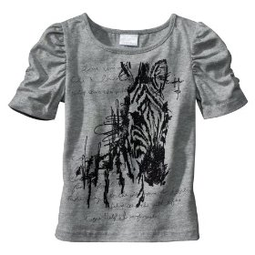 Infant toddler girls' xhilaration® bella gray short-sleeve top