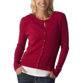 Merona® women's cable cardigan sweater - cayenne