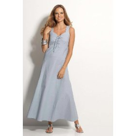 Metrostyle denim maxi dress