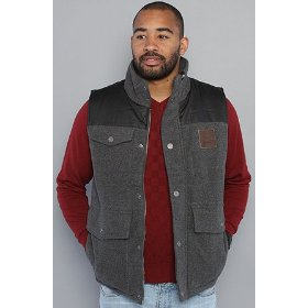 Lrg the roots artillery vest in charcoal heather,vests for men