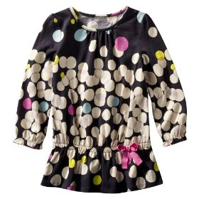 Infant toddler girls' genuine kids from oshkosh charcoal long-sleeve knit tunic