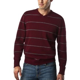 Merona® opp stripe sweater - red