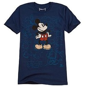 Disney organic sketch art mickey mouse tee