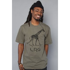 Lrg core collection the grass roots nine tee in olive drab,t-shirts for men