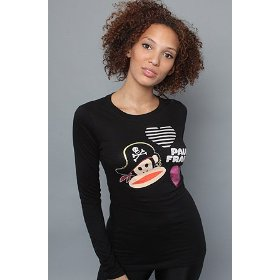 Paul frank the pirate hat julius l/s tee,tops (l/s) for women