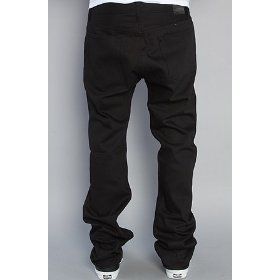 Rvca the spanky ii jeans in raw black,denim for men