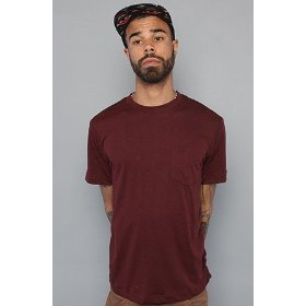 Rvca the ptc tee in red stain,basic t-shirts for men