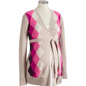 Old navy maternity belted argyle cardigans