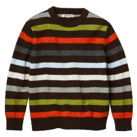 Boys' cherokee® brown stripe long-sleeve sweater