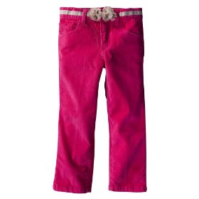 Infant toddler girls' genuine kids from oshkosh pink corduroy pant