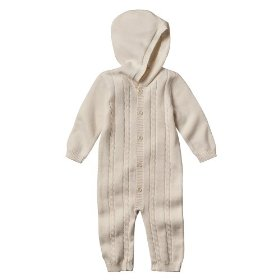Newborn boys' cherokee® ivory cable coverall