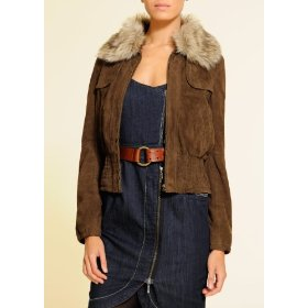 Mango women's short suede jacket