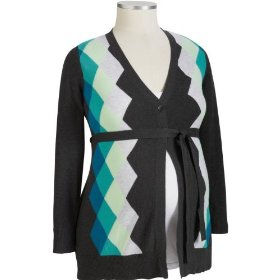 Old navy maternity plus argyle cardigans