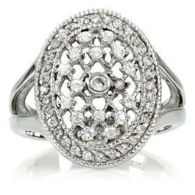 Inspired by twilight engagement ring: bella's wedding ring - silver - 4