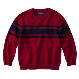 Infant toddler boys' cherokee® red long-sleeve sweater