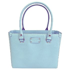 Kate spade quinn robins egg leather wellesley tote