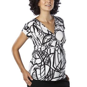 Liz lange® for target® maternity crossover v-neck top - black/white