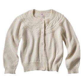 Infant toddler girls' cherokee® oyster long-sleeve cable sweater