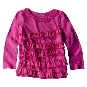 Infant toddler girls' genuine kids from oshkosh pink long-sleeve rumba top