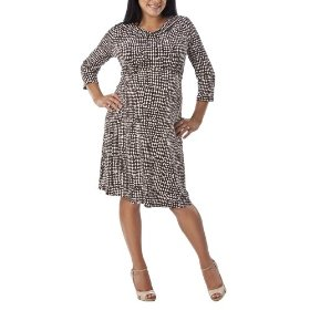 Merona® maternity cowl-neck empire dress - brown/white