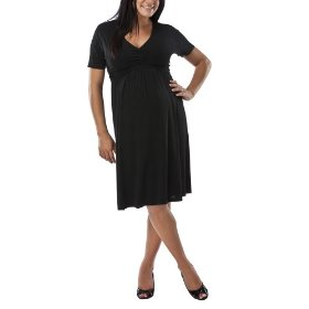 Merona® maternity pleated-front empire dress - ebony