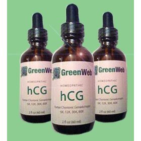 Green web hcg drops for dr simeons quick weight loss diet, homeopathic 2 fl oz 60ml, 35-40 day suppl