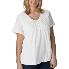 Women's plus-size merona® fresh white v-neck short-sleeve fashion top