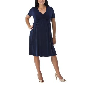 Merona® maternity pleated-front empire dress - navy